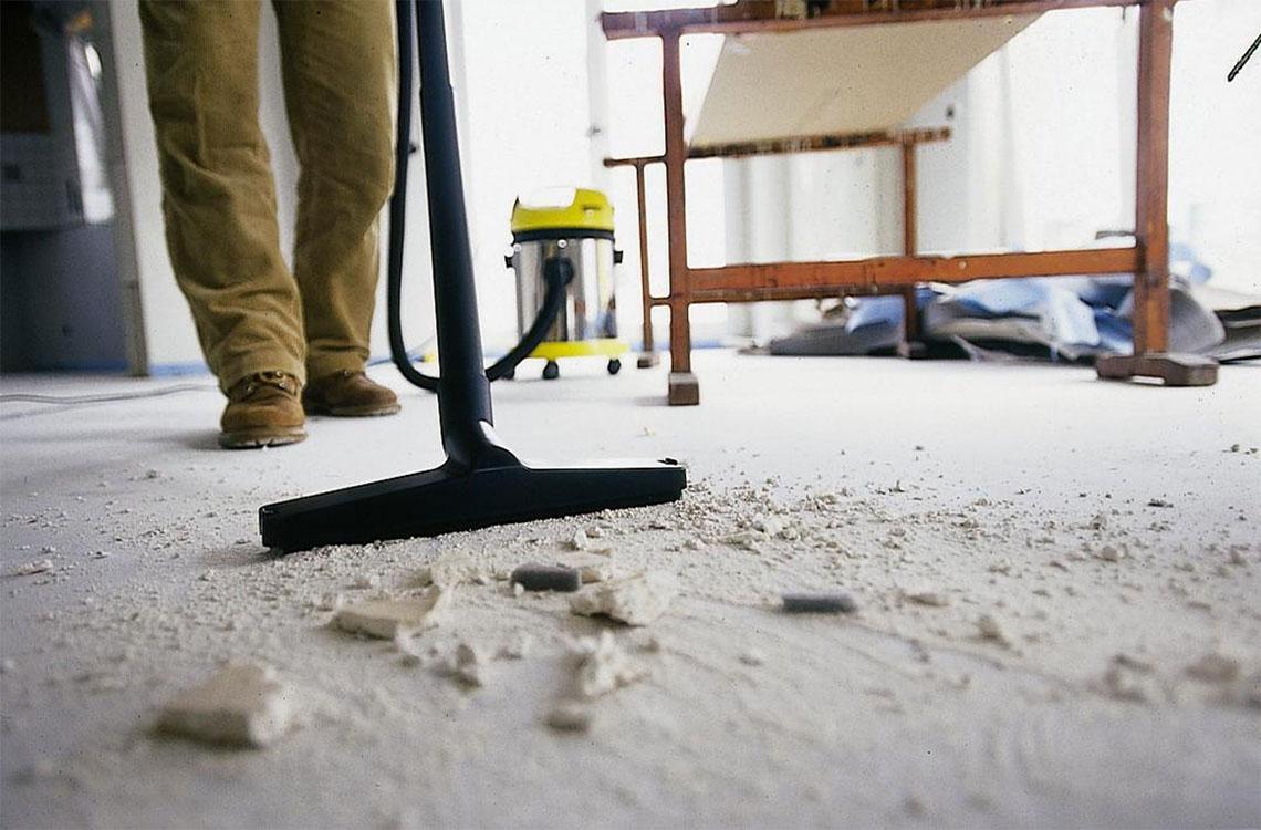 как да почистим бързо след къртене