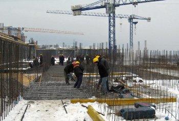 къртене на бетон на строителен обект