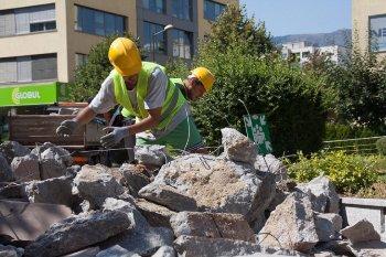 изкъртен бетон