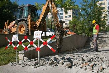 къртене на бетон с хидравличен къртач