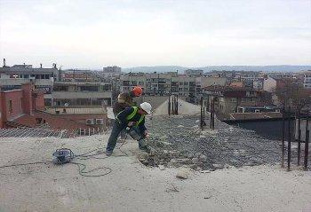 изкъртване на бетон с хидравличен къртач