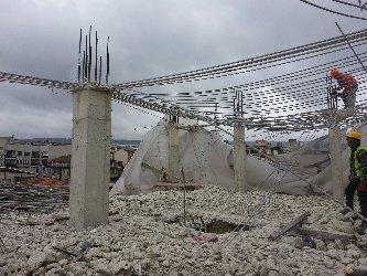 Къртене по високи части от сграда
